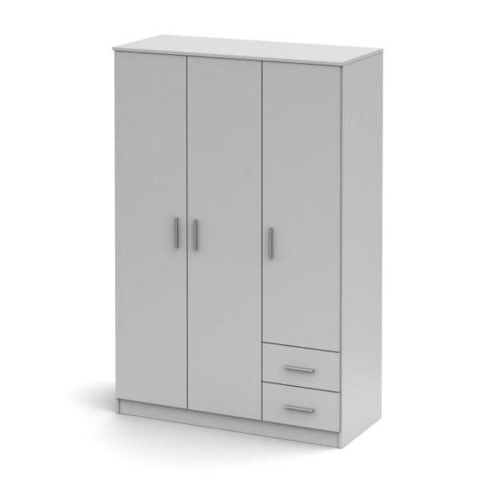 3ajtós szekrény, fehér, NOKO-SINGA 84