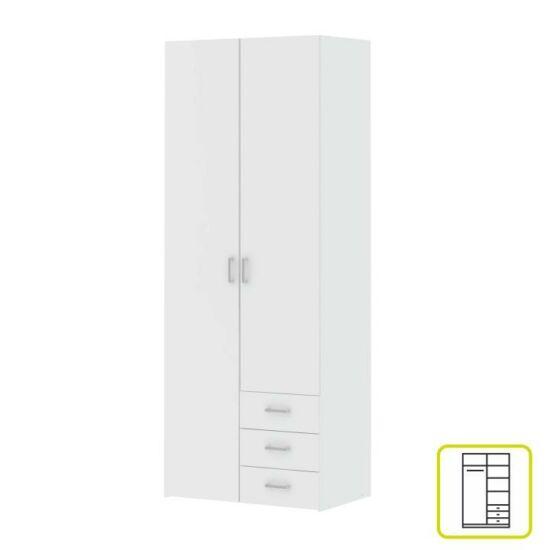 2-ajtós szekrény, fehér, GWEN 70425