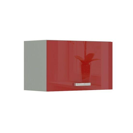 Felső szekrény, piros magas fényű, PRADO 60 OK-40
