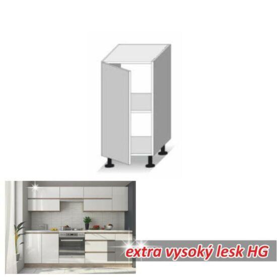 Alsó szekrény 1 ajtóval,magas fényű fehér, LINE WHITE