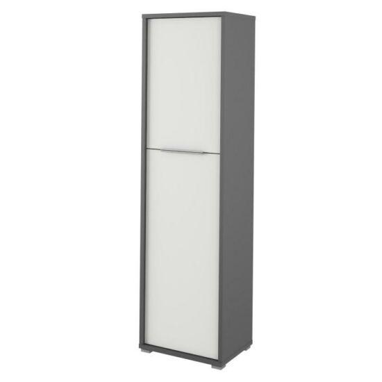 polcos szekrény,grafit/fehér,rioma typ 08.dtd laminált