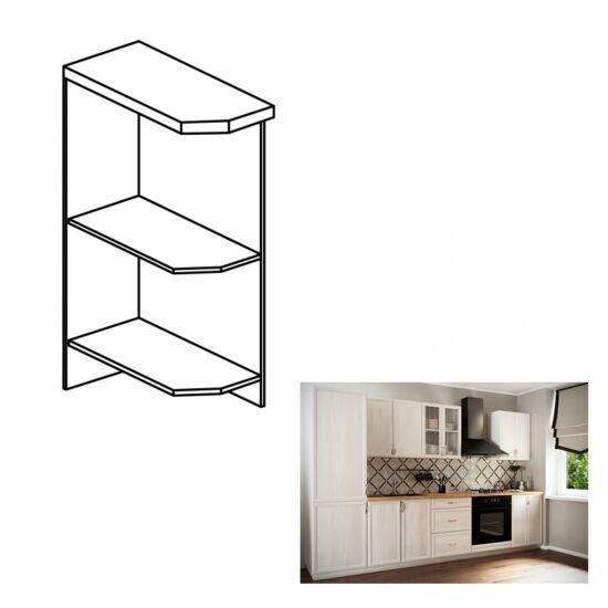 SICILA D25PZ alsó nyitott konyha szekrény , bal oldali változat.