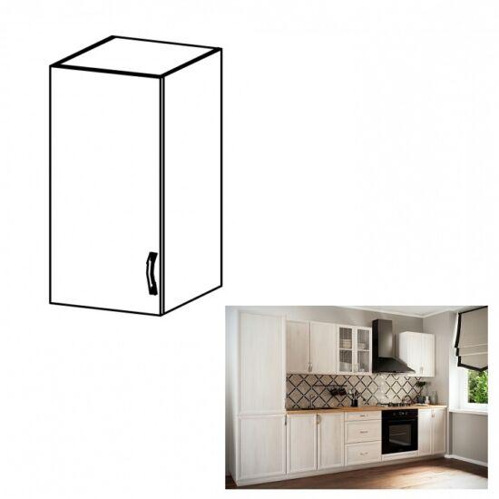SICILIA G40 felső szekrény üveggel balos