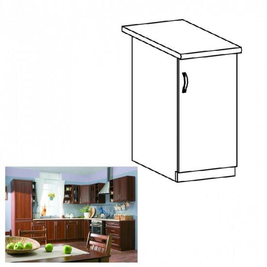 Jobbos alsó konyha szekrény ajtóval, dió Milano, SICILIA D40