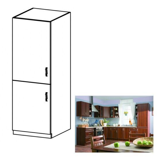 Konyha szekrény beépített hűtőszekrényhez, balos, dió Milano, SICILIA    D60ZL
