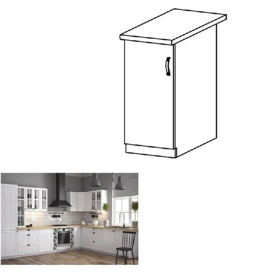 PROVANCE D30 konyhai alsó szekrény ajtóval, balos, fenyő    ANDERSEN/fehér