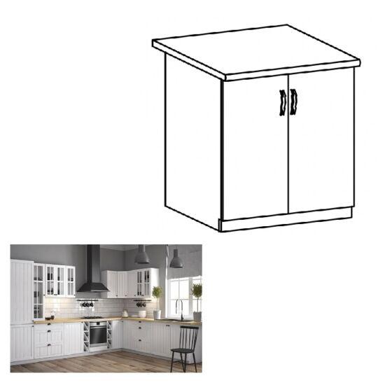 PROVANCE D80 konyhai alsó szekrény ajtóval, fenyő ANDERSEN/fehér