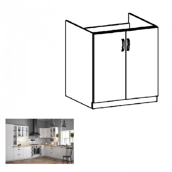 PROVANCE D80Z konyhai alsó mosogató szekrény, fenyő     ANDERSEN/fehér