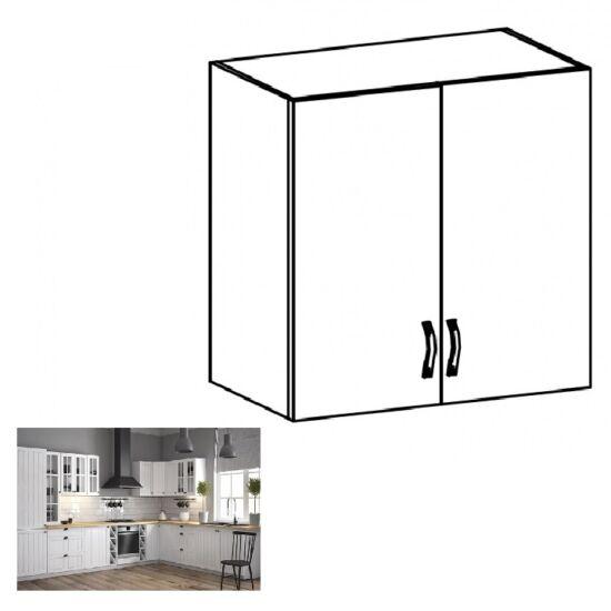 PROVANCE G80 konyhai felső szekrény két ajtóval, fenyő     ANDERSEN/fehér